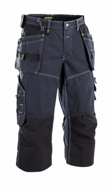 Blaklader 1962 X1900 Craftsman Pirate Shorts 88% cotton/12% Polyamide, Denim (Navy Blue/Black)